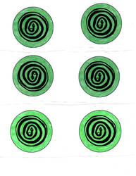 snake spiral button template by SpotEtal