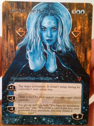 Magic the Gathering alter: Tamiyo 5-9-16 by Ondal-the-Fool