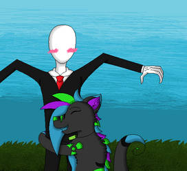 Slenderman and Me :D by meepers1242