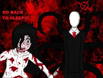 Jeff the Killer and Slenderman by meepers1242