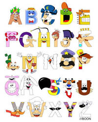 Breakfast Mascot Alphabet by mbaboon
