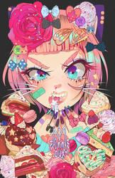 pa: cat + dessert business card by minnoux
