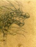 pencil dragon by Lavawolf