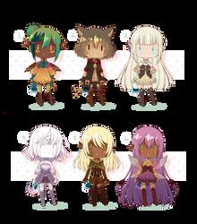 [OPEN 2/6] Fantasy Adopts! WanNyan Collaboration~! by Geinkotsu