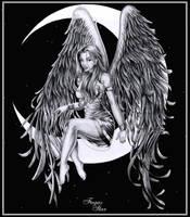 Angel on the moon by Fugaz-Star