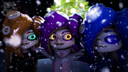 Octolings In The Snow by Faloliver