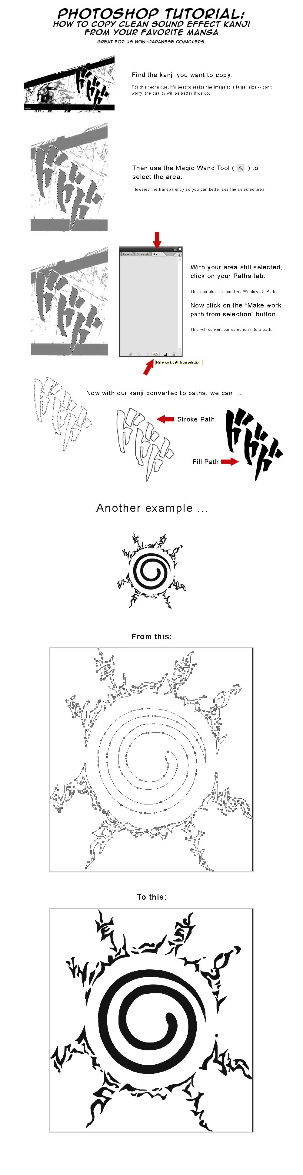 Tutorial: Clean SFX Kanjis by mongrelmarie