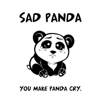 Sad Panda Chibi by mongrelmarie