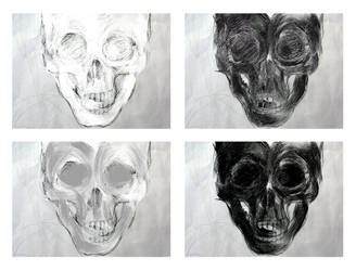 skull compo four by circle00
