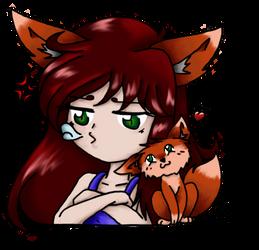 Red Fox (chibi Wacom) by AiWiArt