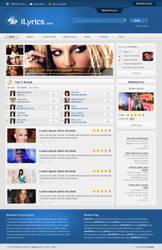 iLyrics.com - Web Design by proviewz