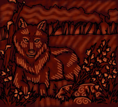 Red Wolf by heatherleeharvey