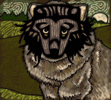 Masked Fox by heatherleeharvey