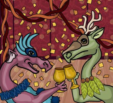 Masked Ball - Dragons by heatherleeharvey