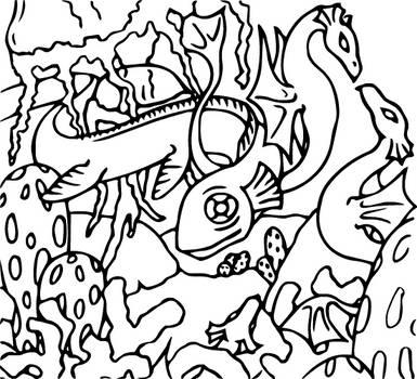 Dragon Colouring Page 3 by heatherleeharvey
