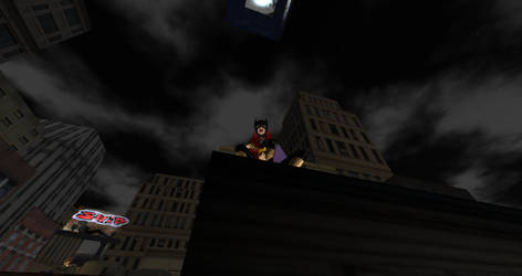 Watchful protector of Mean Street by red2blaze