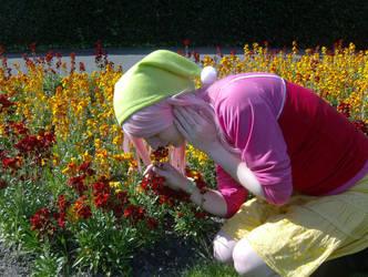 Nyu Sniffing Flowers by Atayemi