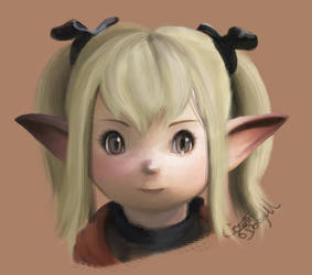 Lalafell Practice by Quartknee