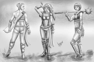 PowerTough Girls WIPno1 by Kazuo-O85