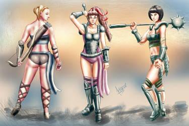 PowerPuff Girls as Gladiators by Kazuo-O85