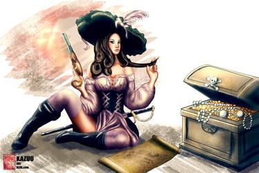 Pirate Pinup by Kazuo-O85