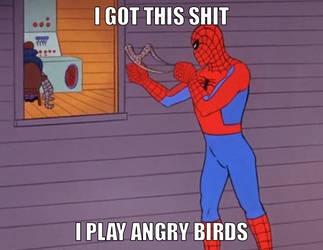 I play Angry Birds by onyxcarmine