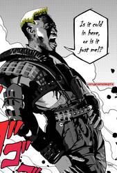 Black Villains: inktober#2 - Simon Phoenix by Sokartis