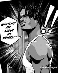 Black Villains: #inktober12 - O-Dogg by Sokartis