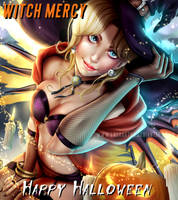 Witch Mercy-Happy Halloween by Laurart88