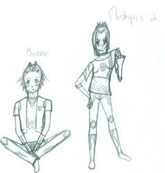 Buzzer and Flashspark2 by ninja-freak13