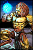 Lion Fighter Mage by rwolf
