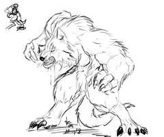 Snarly Werewolf by rwolf