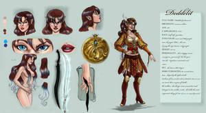 Character Sheet- Deddelit by LadyDeddelit