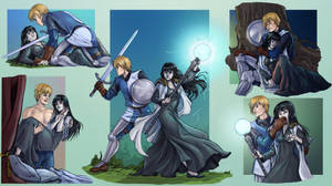Commission 53 Kol and Skuld Couple Sheet by LadyDeddelit
