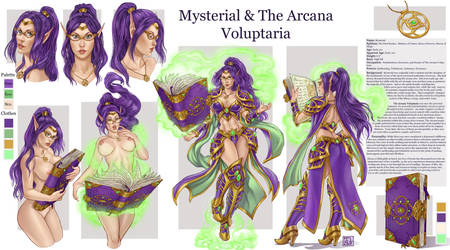 commission 104 -  Mysterial-Charchters sheet by LadyDeddelit