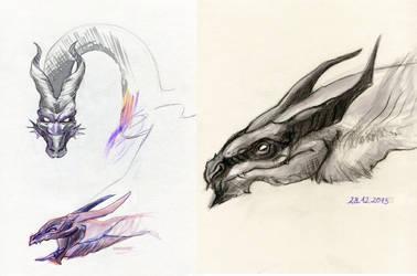 003 - dragons by JoanCzyk