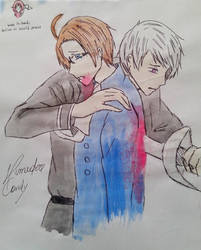 Austro-Prussian War - Hetalia by Himedere-candy-candy