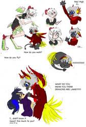 Dragon Doodles by Phantom-Panda