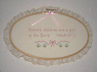 Bible Verse Cross Stitch by LeeBerri