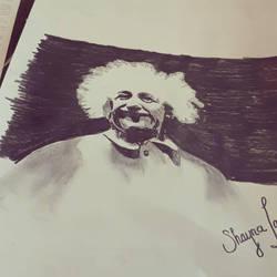Albert Einstein drawing  by shaynaRoseLavoie