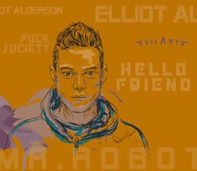 Mr.Robot-Elliott Alderson by evilboydavid