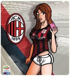 AC Milan Pinup Girl 15/16 by Markyuss