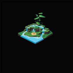 Tiny Isometric Pond I by remplica