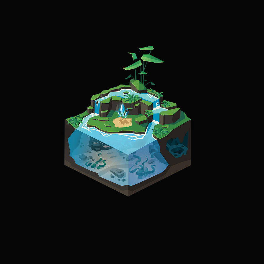 Tiny Isometric Pond II by remplica