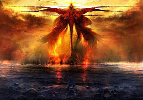 Nakir: Fire Colossus by AlexiaDella