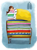 Princess on the pea by acidbetta