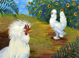 Mr. and Mrs. Rooster by orinocou
