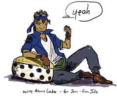FF6- Locke on his cheesecake pillow by orinocou