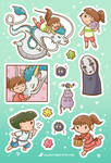 Spirited Away Sticker Set by orinocou