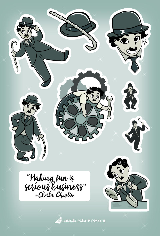 Charlie Chaplin Sticker Sheet by orinocou